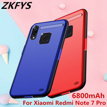 ZKFYS 6800mAh Portable Power Bank Case For Xiaomi Redmi Note 7 Pro High Quality Bracket External Backup Battery Charger Case