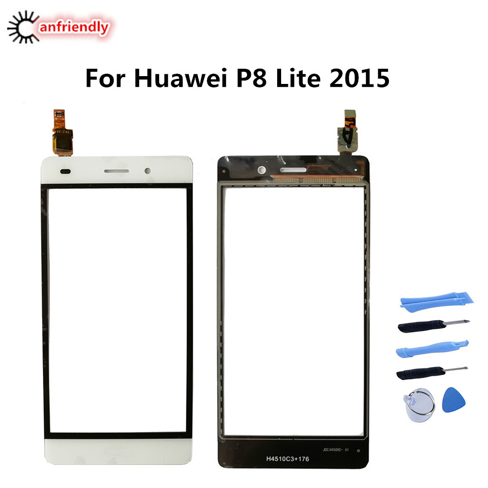 For Huawei P8 Lite 2015 5.0 Touch Screen Panel Replacement Digitizer Sensor Front Glass For Huawei P 8 Lite Mobile Phone PartsFor Huawei P8 Lite 2015 5.0 Touch Screen Panel Replacement Digitizer Sensor Front Glass For Huawei P 8 Lite Mobile Phone Parts