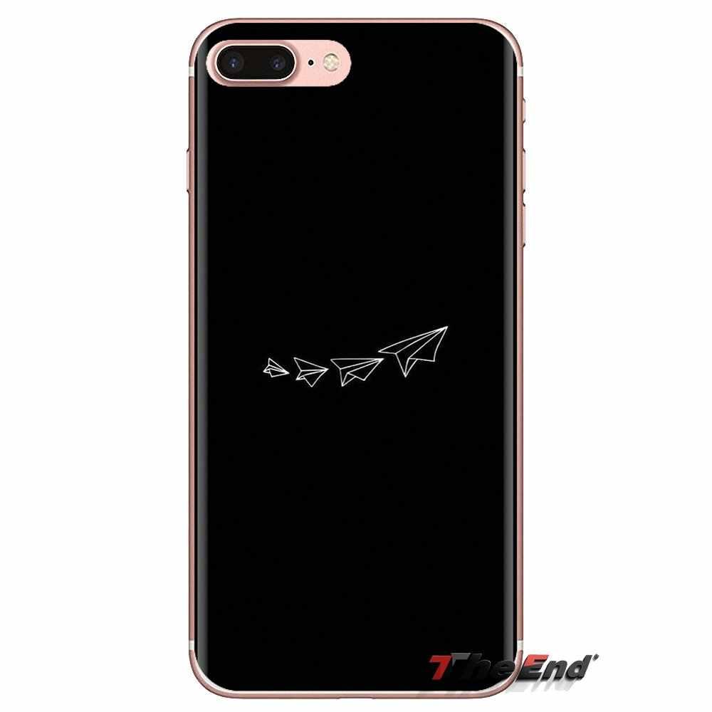 Dành cho LG Tinh Thần Motorola Moto X4 E4 E5 G5 G5S G6 Z Z2 Z3 G2 G3 C Chơi Plus Mini du lịch thế giới máy bay giấy máy bay Vỏ Điện Thoại