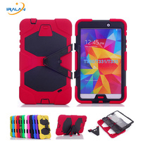 Shockproof Protective Case For Samsung Galaxy Tab 4 8 0 T330 T331 T335 Cover Luxury Stand