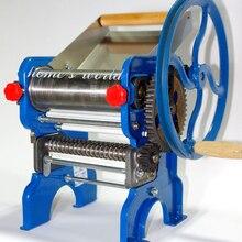 Высокое качество подшипник стиль ручной лапши делая машину, машина для изготовления макарон, машина для резки лапши, пресс для лапши с двумя лезвиями