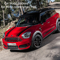 car hood stickers for mini cooper f60 accessories hood stripe decals