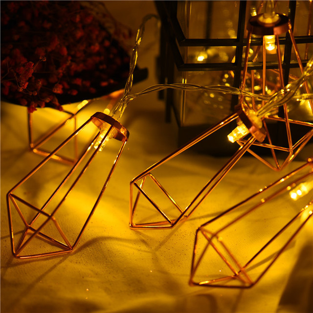 DIY Party$Home Decoration Lighting chains Mini Lantern DIY Wedding 20 Leds Creative string light for Halloween No battery