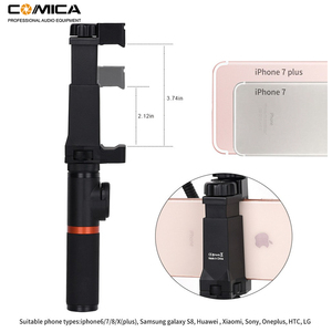 Image 2 - Comica Smartphone Video Rig Kit CVM VM10 K3 Filmmaker Handle with Mini Phone Video Microphone for iPhone Samsung LG Huawei etc.