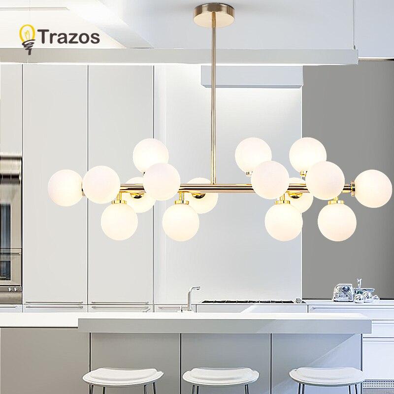 Moderne or LED lustres Suspension lustres para sala de jantar salon chambre cuisine pendentif lustres éclairage