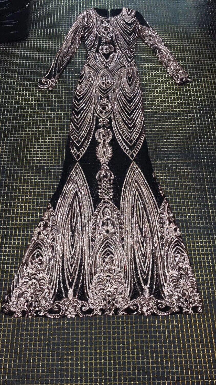 170 CM longueur soirée robe à manches longues Sexy moulante étage longueur robe paillettes Sexy robe de bal de qualité supérieure