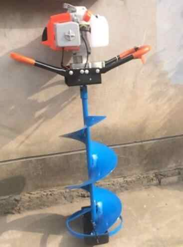300mm digging hole Drill Gas powered Ice Auger with blade for Gasoline  Engine Agricultural cultivator 800mm long