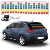 114 30cm 5 Colour Music Rhythm EQ Car Sticker Music Equalizer On Car Windshield LED Sound