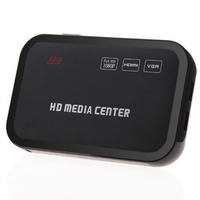 Full HD 1080P Media Player Center RM/RMVB/AVI/MPEG Multi Media Video Player with HDMI YPbPr VGA AV USB SD/MMC Port Remote Cont