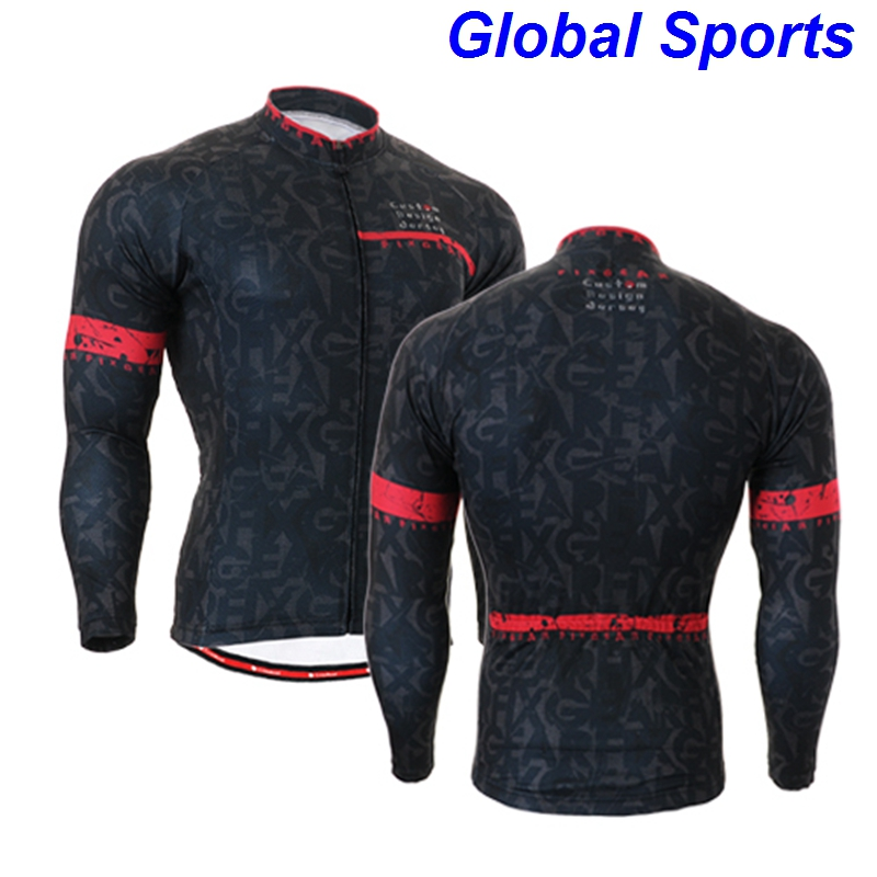2017 black men cycling jackets for spring autumn long sleeve sports outwear for riding biking size s-3xl