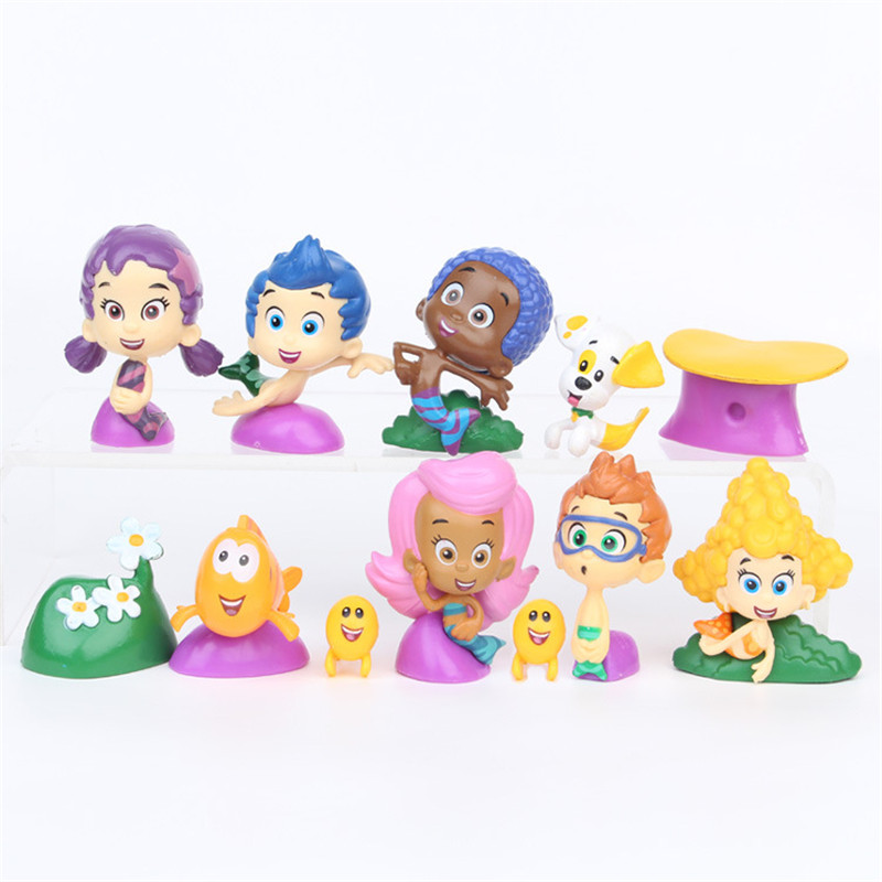 12PCS/set Bubble Fish Guppies Puppy Goby Deema Gil Oona Underwater Scenery pvc 2-5cm action figure toys drop shipping12PCS/set Bubble Fish Guppies Puppy Goby Deema Gil Oona Underwater Scenery pvc 2-5cm action figure toys drop shipping