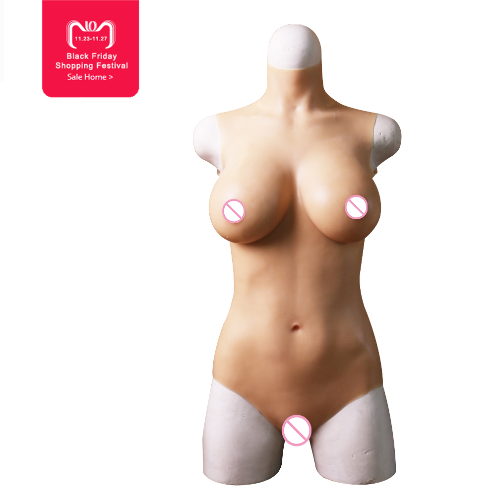 EYUNG C cup liquid silicone filling bodysuit for Crossdresser Vagina penetration Realistic breast form fake boobs