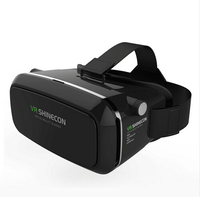 Shinecon VR Virtual Reality 3D Glasses Headset Head Mount Movie Game 3 5 6 0 Inch