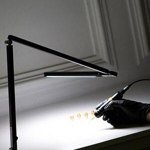 Image 4 - EZ 직업적인 귀영 나팔 빛 LED 책상 램프 귀영 나팔 & 영원한 메이크업 예술가를위한 조정 가능한 경량 귀영 나팔 램프