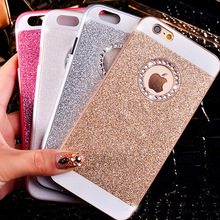 Bling Glitter powder shining Hard PC diamond case For iPhone 4 4S 5 5S 6 6s 4.7 Plus 5.5 crystal strass rhinestone handmade bag