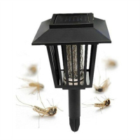 New Solar Garden Yard LED Lamp Light Bug Zapper Pest Insect Mosquito Killer Lamp Outdoor