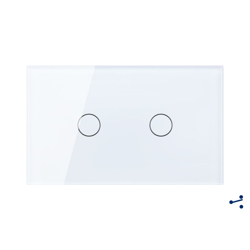 Free Shipping, US AU Standard Touch Switch, 2 Gang 2 Way Control, Crystal Glass Panel,Wall Light Switch,KT002DUS