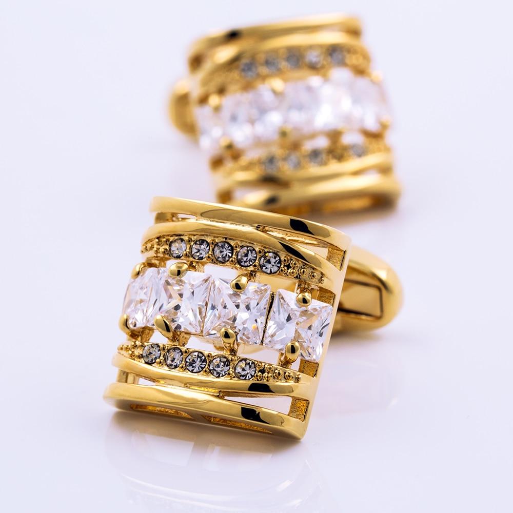 KFLK Brand Men's Shirt Cuff Links Button High Quality Gold-color Cufflinks Wedding Gift 2017 Free Shipping