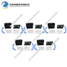 цена на 5 Set 6 Pin  DJ3061-2.5-11/21 Female Male Weather Pack Electrical Wire 2.5 Connector Plug Sealed Wiring Automobile Connectors