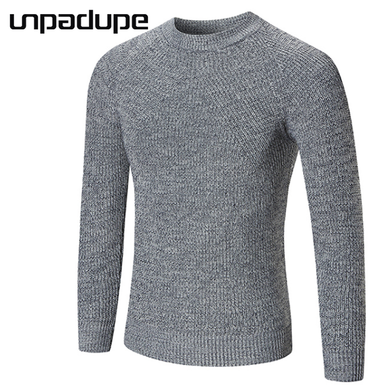 Unpadupe 2018 Spring Autumn Winter Sweater Men Cotton Men Long Sleeve Sweater Simple Knitted Solid Grey Size Xxl Pullover Hombre