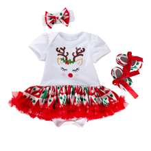 2019 New Baby Girl Clothes Cute Print Short Sleeve Bebek Giyim Bebe Outfits Roupa Infantil Menina Childrens Clothing