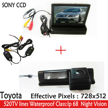 """Car Parking Kit With 4.3"""" WIFI TFT LCD Display Car Camera Monitor+CCD Camera for Toyota HARRIER ALTEZZA PICNIC ECHO VERSO CAMRY"""