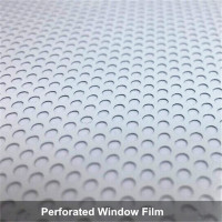 Premium White Perforated One Way Vision Print Media Vinyl Window Sticker Film 137cm x 600cm Wholesale