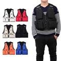 1PC Outdoor Polyester Vests Sleeveless Multi Pocket Zip Hunting Fishing Shooting Mesh Vest Outdoor Jacket