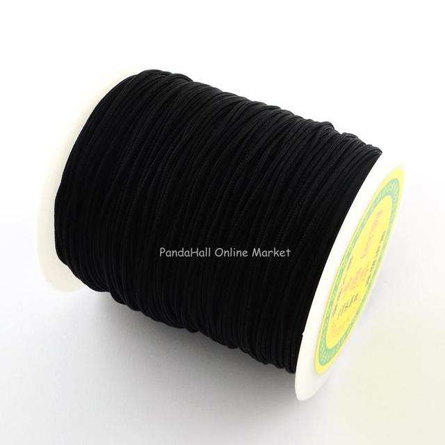 Nylon Thread with One Nylon Thread inside, Stronger than NWIR-R006- Series, Black, 1mm;  about 140m/roll