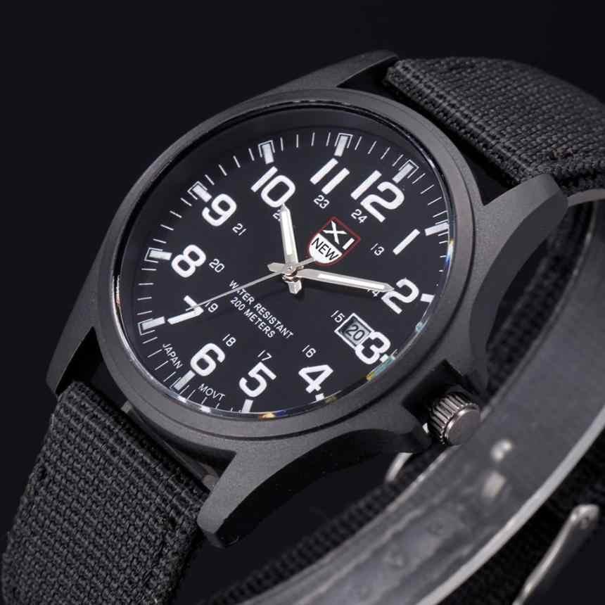 Offre spéciale en Nylon bracelet Style Quartz hommes montre haut marque montres mode décontracté mode montre-bracelet Relojes Relogio Masculino