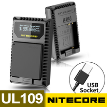 Hot Nitecore UL109 Digital Dual Slot USB Portable Travel Camera Charger For Leica D-lux typ 109 Leica BP-DC 15-E  Camera Battery