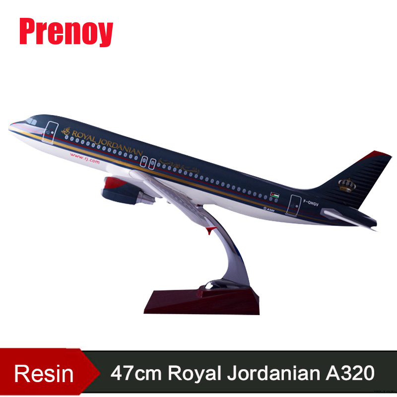 47cm Resin A320 Jordan Airplane Model Royal Jordanian Airway Airbus Model A320 Internatioanl Aircraft Aviation Stand Craft Model offer wings xx2615 special jc cuba aviation ei tlj 1 200 a320 commercial jetliners plane model hobby