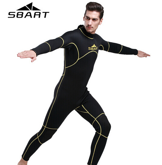 SBART Men's Neoprene Wetsuit 3MM Triathlon Wetsuit Swimming Scuba Diving Surfing Wetsuits Spearfishing Long Body Swimwear spearfishing wetsuit 3mm neoprene scuba diving suit snorkeling suit triathlon waterproof keep warm anti uv fishing surf wetsuits