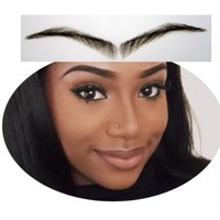 2016 Natural Sale Eyebrow Easy To Wear Limited Sobrancelha 022 Hand Made Human Hair Fake Handmade Swiss Lace Invisible Reality