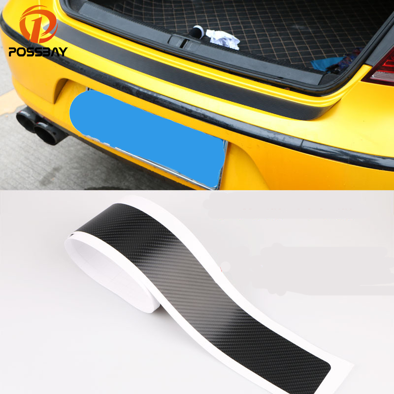 1*3D Car Trunk Sill Plate Bumper Guard Protector Carbon Fiber Sticker For Ford