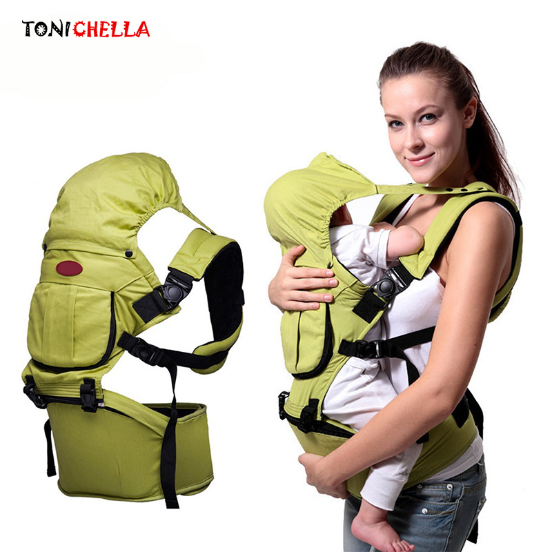 Baby Carrier Sling Ergonomic Cotton Infant Hipseat Backpack Adjustable Wrap Rider Breathable Adjustable Kids Carriers BB3030 breathable baby carrier backpack portable infant newborn carrier kangaroo hipseat heaps sling carrier wrap