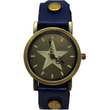 new fashion women casual dress leather strap wristwatch lady classic vintage star face high quality TADA brand quartz watch men