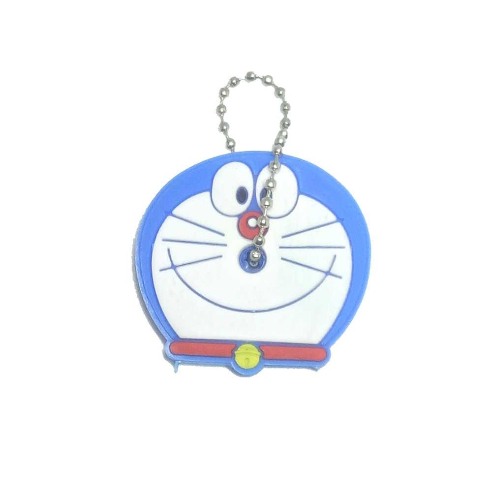 1 PC Tampa Chave Tampa de Silicone Dos Desenhos Animados Anime Bonito Mickey Ponto Urso Keychain Mulheres Porte Clef Coruja Presente Olá Kitty minne Corrente Chave