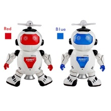 RC Robot Toys Remote Control Electronic Toy Robot Pet Musical Walk Dancing Lightning Electronic Games for Children Kids Boy Gift