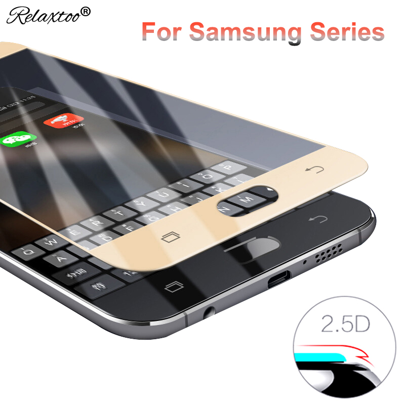 2.5D Tempered Glass case for samsung j7 2017 j3 j5 pro a3 a5 a7 2016 2018 Screen cover film for sumsung galaxy s7 s6 Protector