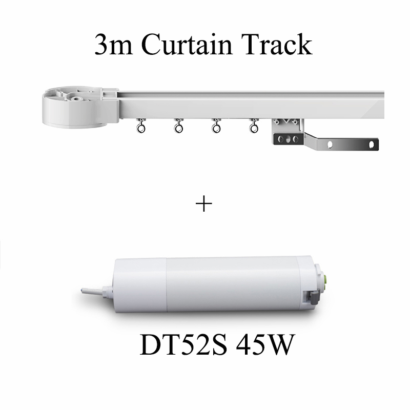 Ewelink Dooya DT52S Electric Curtain Motor 220V Open Closing Motorized 45W Motor +3m Window Curtain Track For Smart Home System
