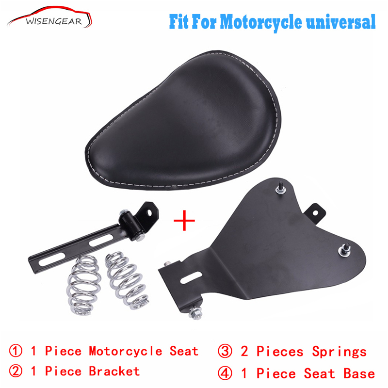 WISENGEAR Motorcycle Solo Seat Cushion Spring Bracket Front Driver For Harley Touring Sportster Honda Yamaha Bobber Chopper C/5