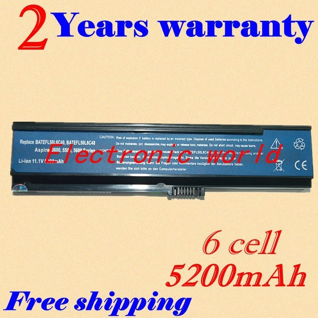 Jigu [Precio especial] nueva 6 celdas de batería portátil para acer aspire 3030 3610 3600 3680 3050 5050 5570 5580 5030 5500 5550