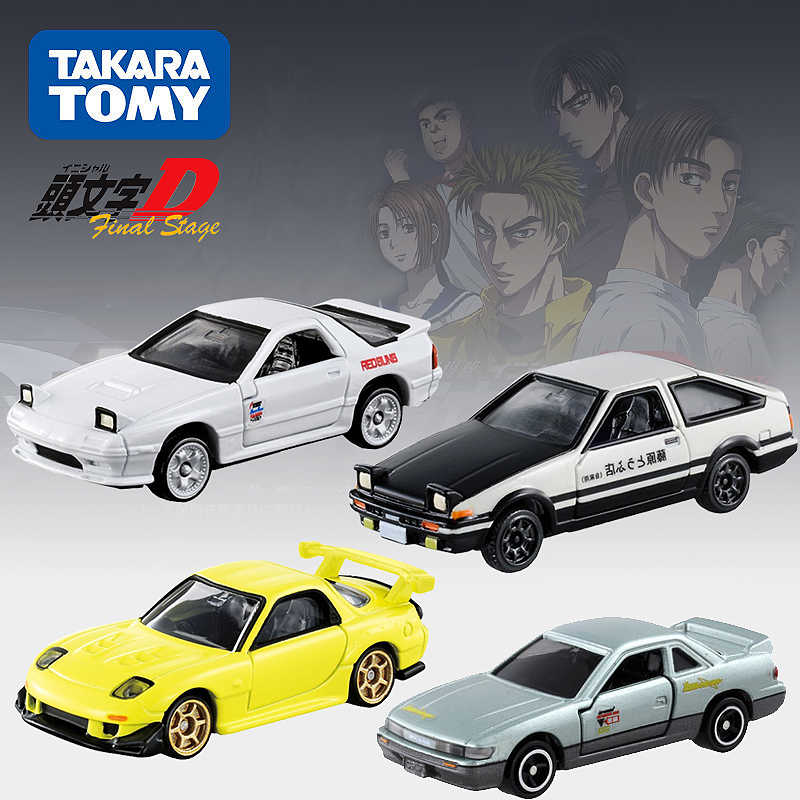 Geniune Takara Tomy Dream Tomica Initial D FC3S RX-7 GT-R R32 FD36 AE86 S13 Metal Diecast Vehicles