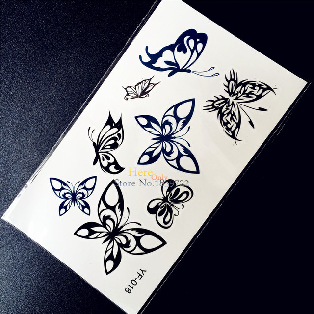 Henna Waterproof Disposable Tattoo Style HYF-018 Fake Flash Removable Tattoo Butterfly Tatouage Taty Kids Tatoo Supplies