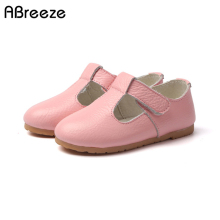 14-22cm Spring autumn Girls Princess shoes new fashion 100% Genuine Leather shoes for girls solid kids leather shoes