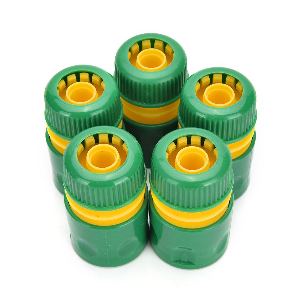 "Hot Sale 34mm 1/2"" Hose Pipe Fitting Set Quick Yellow Water Connector Adaptor Garden Lawn Tap Water Pipe Connector 1PCS