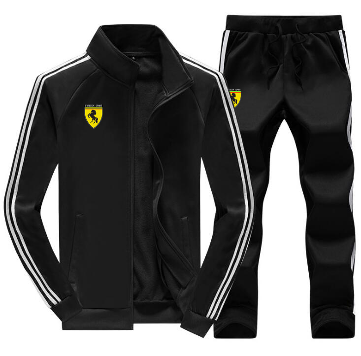 Men Gym TrackSuit Sport Jacket Sweats Suit Set Trousers Pants Jogging Activewear