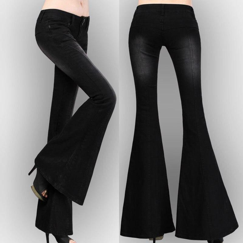 Svasati Nero Di Casual Del Inverno Elastico Elastica La Pantaloni Pantaloni Per Dei Molla Stirata Autunno Jeans Donna Denim EUgq6wxxp