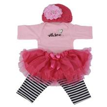 Индивидуальная дизайнерская детская кукольная одежда подходит для 22-23 дюймового платья для новорожденных девочек костюмы из шести предметов кукольные аксессуары детские игрушки для самостоятельной игры